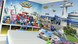 The Super Wings land at the Toy Hotel