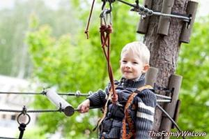 Adventure parks for families with children